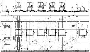 Выбор схемы организации ТО Дипломное проектирование  Рис 3 3 Зона ТО 2 для автобусов планировка поточной линии с поперечным расположением постов