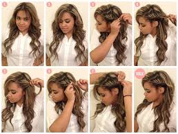 Différente Coiffure Cheveux Long Simple Coiffure Boucle