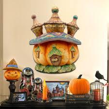 pumpkin castle wooden decorative holiday door