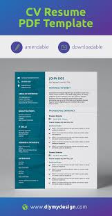 What Is Needed For A Modern Resume Corporate Teal Modern Double Page Cv Resume In 2019