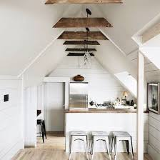small rustic kitchen with wood beamed ceiling / sfgirlbybay
