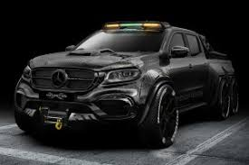The Mercedes-Benz EXY Monster X Is A 6x6 Pickup Truck In Carbon ...