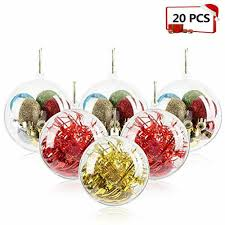 details about 20 ornaments pack 80mm clear ornaments diy plastic fillable tree ball