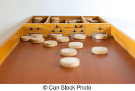 Dutch Game With Wooden Discs Wooden family game sjoelen A traditional dutch game called 56