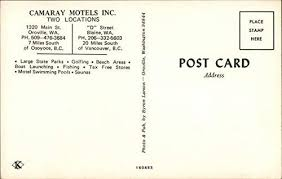 Camaray Motels Inc. Oroville, Washington WA Original Vintage Postcard at  Amazon's Entertainment Collectibles Store
