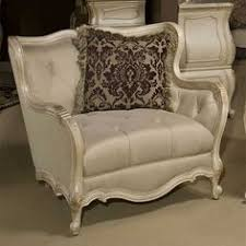 caravelle pearl chair and a half ottoman in living roomchair