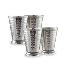 stainless steel mint julep cup set 4 pack