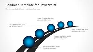 road map powerpoint template free roadmap timeline with spheres for powerpoint slidemodel