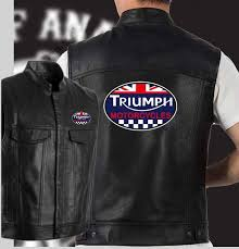2019 fashion triumph motorcycles leather vest black motorcycle hip hop leather vest men s sleeveless jacket from mapnature 51 53 dhgate com