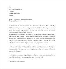 Sample Teacher Cover Letter Example 12 Free Documents Bunch Ideas Of