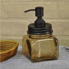 amber glass soap pump