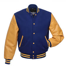 purple and yellow letterman jacket