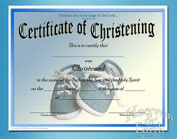 51 Awesome Baptism Certificates Templates Template Free