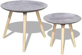 Tidyard <b>Two Piece Side Table</b>/Coffee Table Set 55 cm&44 cm ...