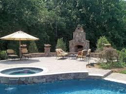 outdoor fireplace paver patio: weddington nc outdoor fireplace raised paver patio by fine edge landscape design via flickr
