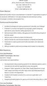 resume core java resume template core java resume full size