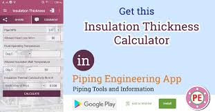 Calculation Of Insulation Thickness For Pipes The Piping