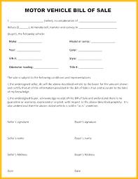 Standard Bill Of Sale For Boat Simple Car Bill Of Sale Template Free Printable Ga General