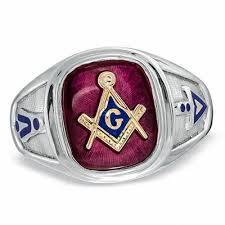 masonic ring in sterling silver