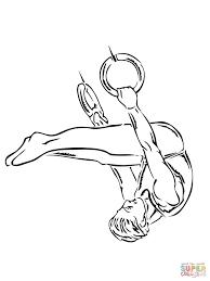 Gymnastische Ringoefening Kleurplaat Gratis Kleurplaten Printen