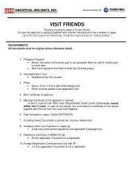 Visit Friends Requirements Birth Certificate Travel Visa