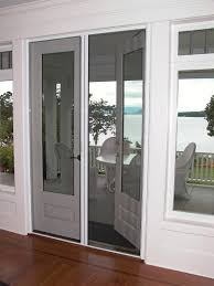 small french patio doors with screens