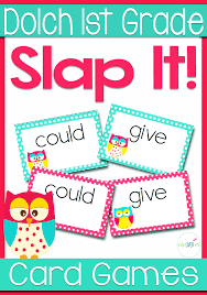Sight Word 1st Grade Dolch Words 1st Grade Sight Words Slap It Card Game Center