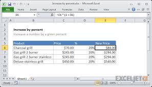 Excel Formula Increase By Percentage Exceljet