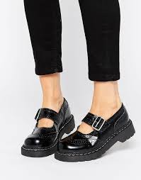 black leather brogues t u k wingtip brogues mary jane chunky leather flat shoes