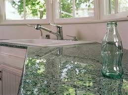diy recycled glass countertops modern kitchen 2017