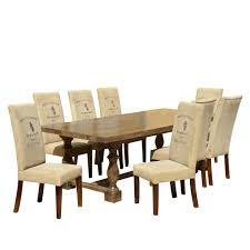 Mango Living Room Furniture Logo Mango Dining Table Set With Fabric Upholstered Chairs