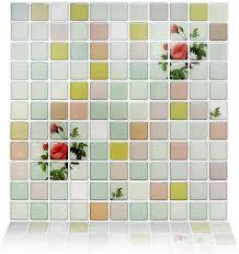 MISIXILE Self Adhesive Mosaic Tile Wall Decal ... - Amazon.com