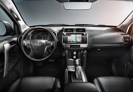 2018 toyota land cruiser prado. fine toyota inside the land cruiser gains a redesigned dashboard especially at top  of centre console tower where it has been lowered to improve forward  throughout 2018 toyota land cruiser prado r