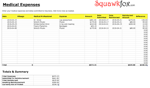 Manage Money Spreadsheet Track Medical Bills With The Medical Expenses Spreadsheet