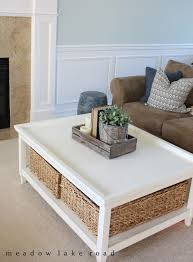 white coffee table storage with furniture rustic wood bottom drawers and classy centerpiece decor also wicker
