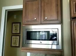kitchenaid microwave with trim kit inch