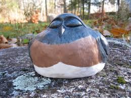 bird statue concrete bluebird garden