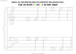 Printable Music Staff Music Staff Worksheets Grand Stave Tracing Printable For Beginners