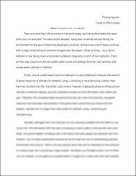 essay water water cycle essay apa style essays calam atilde copy o  water pollution in vietnam essay phuong nguyen cause effects water pollution in vietnam essay phuong nguyen