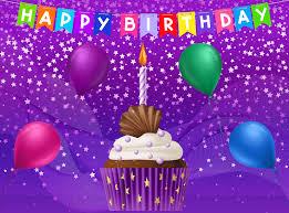 Happy Birthday Purple Card Gallery Yopriceville High Quality