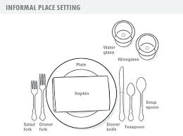 formal setting of a table. breakfast formal setting of a table