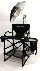 the original italian designed lightweight premium tuscany pro tall folding makeup chair with its innovative design uses black power coated