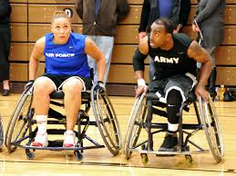 u s department of defense photo essay army and air force wheelchair basketball players go one on one while competing at the olympic