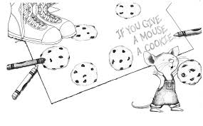 Give A Mouse Cookie Coloring Page Fiscalreform At If You Moose