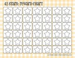 weekly reward chart printable plaid reward charts 42 stars free printable downloads from