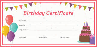 Birthday Gift Certificate Template Free Birthday Gift Certificate Template in Adobe Illustrator 1