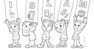 New Muslim Kids Islam Coloring Pages Iedul Fitri Coloring Pages