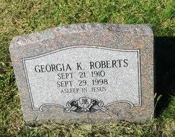 Georgia Katherine Higgins Roberts (1910-1998) - Find A Grave Memorial