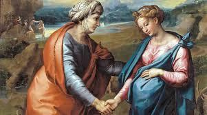 Resultado de imagem para visita de maria a su prima isabel
