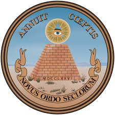 the reverse side of the great seal of the united states 1776 the latin phrase novus ordo seclorum appearing on the reverse side of the great seal